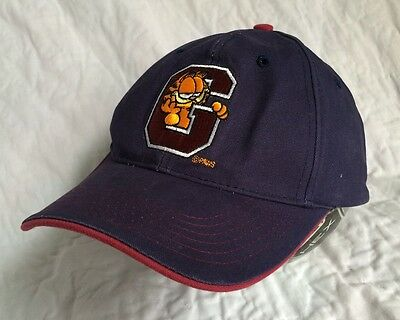 Garfield University Hat Adjustable Navy Blue Paws Cat