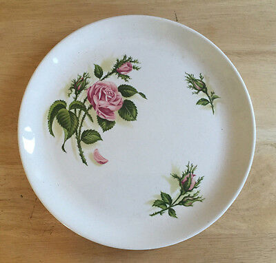 Universal Potteries China Ballerina Moss Rose? Luncheon Dinner Plate Vintage
