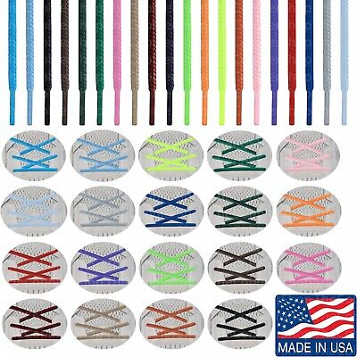 ROUND ATHLETIC SPORT 27 36 40 45 54 63 72 Inch Lace Strings- Made in USA! B2G1!