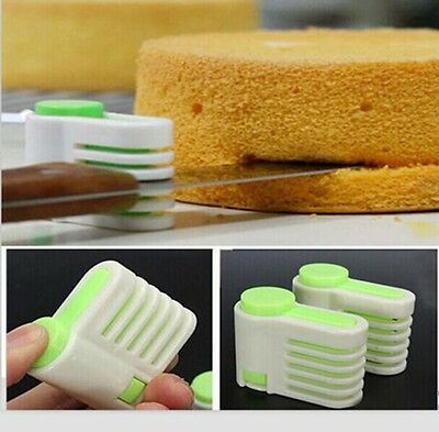 5 Layers Kitchen DIY Cake Bread Cutter Leveler Slicer Cutting Fixator Tools GN