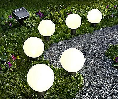 led solar 3er set garten 30cm leuchte kugel beleuchtung. Black Bedroom Furniture Sets. Home Design Ideas