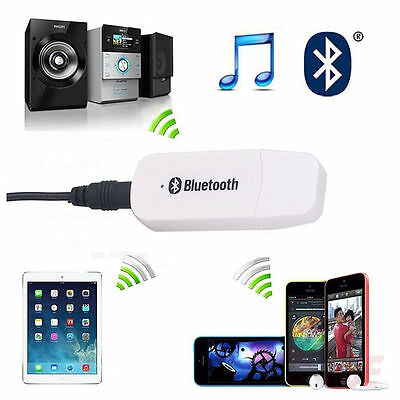 Bluetooth v4.0 Music Streaming Receiver Stereo A2DP 3.5mm AUX Car Audio