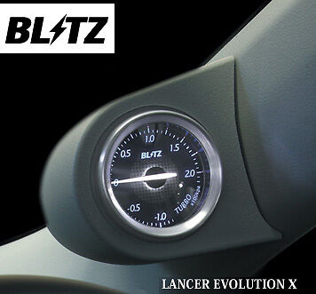 Blitz SV Meter Boost Gauge and Pillar Pod Mitsubishi Lancer Evo X CZ4A