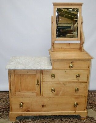 Vintage Pine Dressing Chest of Drawers with Bevelled Mirror - FREE P&P [PL2083]