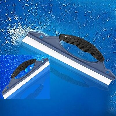 Car Home Wash Window Glass Soap Silicone Clean Squeegee Scrape Blade Water Wiper