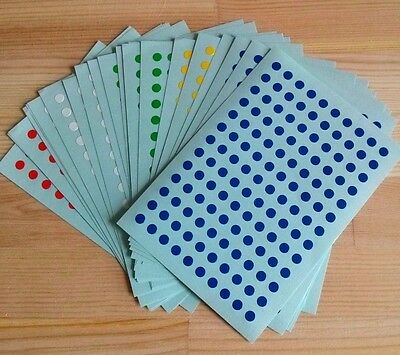 650 BLUE color Round Self Adhesive Labels Stickers Circle Dots Colored 5mm