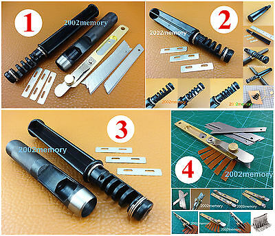 4 Kinds Leather Craft Lacing Lace Maker Design Punch Strip Cutter Tool NEW