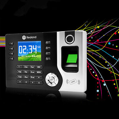 Biometric Fingerprint Attendance Time Clock+ID Card Reader+TCP/IP+USB New WP