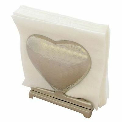 Metal Heart Napkin Holder Party Tableware Serviette Vintage Gift Wedding Decor