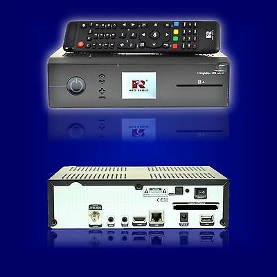 Red Eagle SingleBox LCD Full HD Linux E2 Sat Receiver 1x CardReader  1x CI