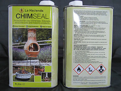 1 litre of Chimseal Sealer For Clay Chimeneas & Terracotta Pots. As Low As £8.99