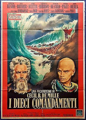 Manifesto Cinema Poster Movie I Dieci Comandamenti Heston Brynner Robinson Epico