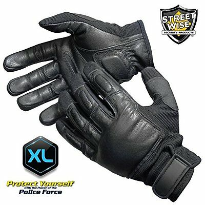 Police Force Tactical Sap Gloves- Xlarge Goatskin Leather Breathable Sp