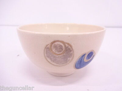 Beautiful Japanese Tea Ceremony, Chawan (Tea Bowl) Kyo Ware, Kinsai Iroe, Tsub