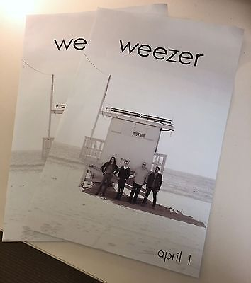Weezer White Album 2016 Official Promo Poster New Rivers Cuomo Cruise Pinkerton