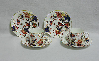 Coalport Hong Kong - lot of 2 Demitasse Cups & 4 Demi Saucers - Older Backstamp