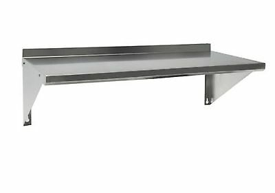Stainless Steel Commercial Wall Mounted Shelf 12X24