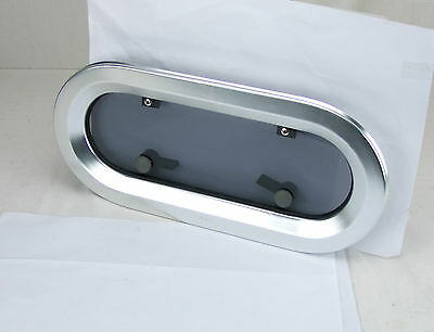 'Bofor' Alloy Opening Port Hole - Oval 200mm x 433mm Boat Portlight
