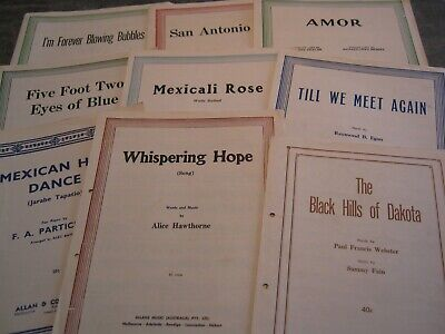 Vintage sheet Music x7 - LAst Waltz,My Way, This Is My Song,Around THe World+++