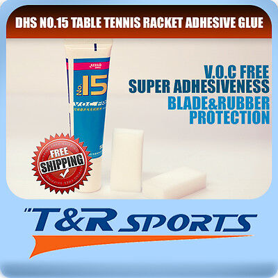 Dhs No.15 Voc Free Table Tennis Racket Adhesive Glue Blade&rubber Protection