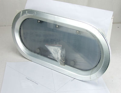 'Bofor' Alloy Opening Port Hole - Oval 250mm x 500mm Boat / Yacht Window/Port