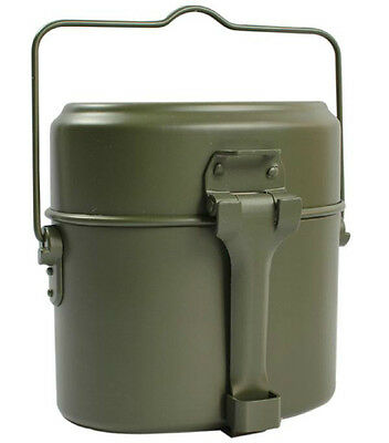 New Army Soldier Military Mess Kit Lunch Box Canteen Kettle Pot Bowl