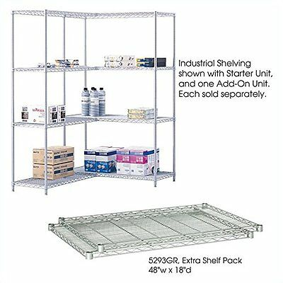 Industrial Wire Shelving- Extra Shelf Pack- 48 x 18in- Gray New