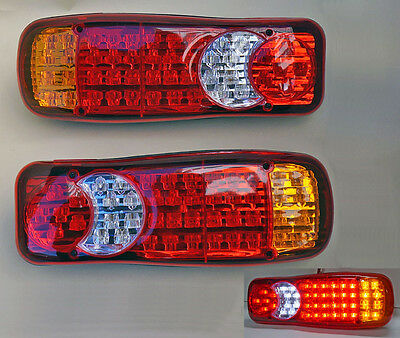Led Rear Tail Lights Truck Lorry Trailer Chassis Scania Volvo Daf Man Iveco 24v