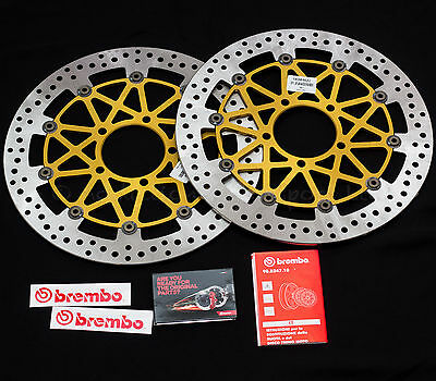 Pair of 330mm Brembo SuperSport Front Discs for Kawasaki ZX-10R 2011-2015