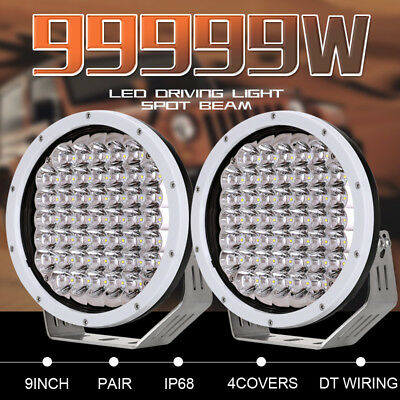 9''99999W NEW CREE LED Round Spotlight Work Driving light Offroad4x4 HID BLK ATV