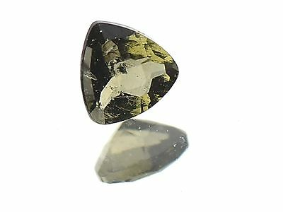 0.2cts trill 4mm CHECKER TOP moldavite faceted cutted gem BRUS1377