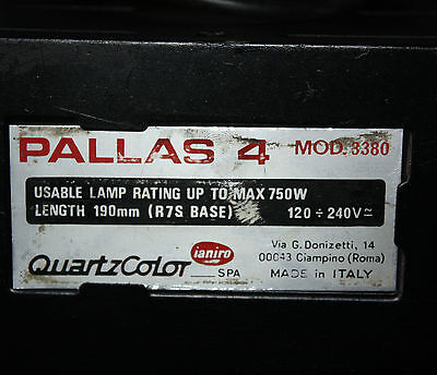 Pallas 4 Theatre Lights (set of 4) Mod 3380 useable Lamp rating up to 750w max