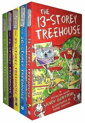 The 13-Storey Treehouse Collection Andy Griffiths and Terry Denton 5 Books Set