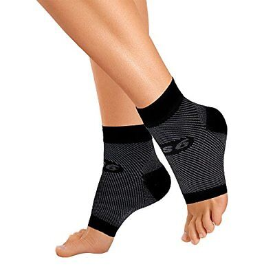 NEW OrthoSleeve FS6 Compression Foot Sleeve Pair Black Large FREE SHIPPING