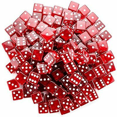 NEW Brybelly 100 Count 19mm Dice  Red FREE SHIPPING