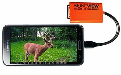 BoneView Trail Camera Viewer SD Card Reader Android Phones Micro USB Connector