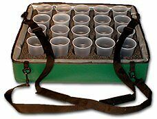 TCB Insulated Bags HWK B Green Beverage Carrier 20 Hole Foam Insert 20 x 24 6