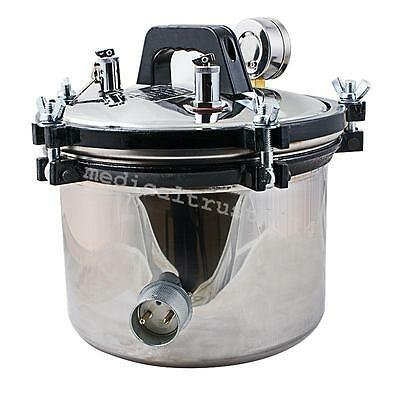 SAFE CE FDA 5L Steam Autoclave Sterilizer Dental Medical Pressure POT 110V/220V