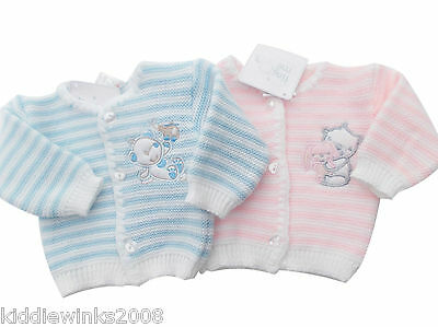 BNWT Tiny Baby Premature Preemie knitted cat cardigan in pink or blue Clothes