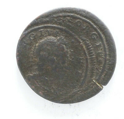 George I Farthing Double Struck Error  (5677)