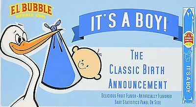 Its a BOY Classic Birth Announcement Bubble Gum Cigar Pack of 36