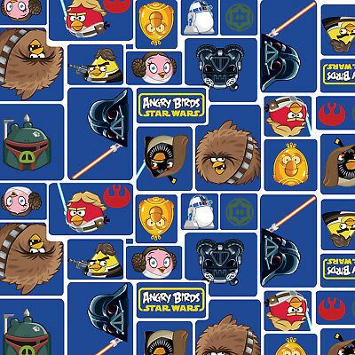... Patchwork Fabric Childrens Angry Birds Star Wars Fabric Rebel Leaders Grey