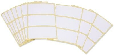 30 PCS OF WHITE PLAIN SELF ADHESIVE LABELS STICKERS 7 X 3,3 cm SEALED PACKED