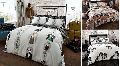 Fashion Duvet Quilt Cover With Pillowcase Bedding Set Single Double King