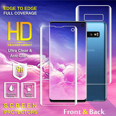 Front Back Full Coverage Screen Protector Samsung Galaxy S7 Edge S8+ S9 S10 Plus