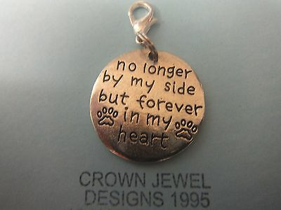 Handmade Tibetan Silver 'no Longer By My Side But Forever In My Heart' Pet Charm