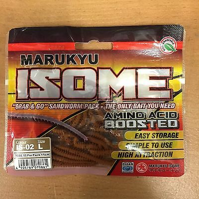 MARUKYU ISOME WORMS - BROWN LARGE 11cm SANDWORM LURES