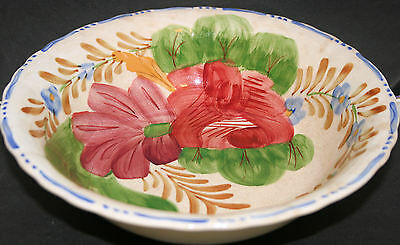 Large Bowl Chanticleer Belle Fiore Simpsons, Cobridge Hand Painted 23 cm across