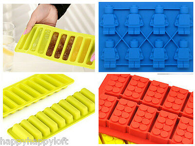 Ice Cube Trays Long Slim Sticks Fits Sports Water Bottle AND OTHER ICE MOULDS!