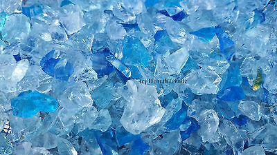 "10 lbs of Carribean Mix Premium Fire Glass For Pits 1/4""  Made In USA"